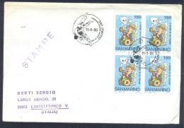San Marino 1986 Cover; Judo World Junior Championship, Junioren Weltmeisterschaft ; Folded - Stamps