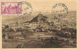 D33233 CARTE MAXIMUM CARD 1940 FRANCE - LE PUY EN VELAY PANORAMIC VIEW CP ORIGINAL - Maximum Cards