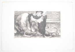 Ex-libris Moderne XXème Illustré -  Allemagne - Femme Lion-serpent - MEIN EIGEN - S.F. MEISSL - Ex Libris
