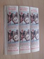 BLOC DE 6  TIMBRE OU VIGNETTE ANNEE 1936  ANTI TUBERCULOSE SANS DEPARTEMENT - Vignettes De Fantaisie
