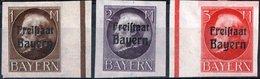 GERMANIA, GERMANY, ANTICHI STATI, BAVIERA, BAYERN, RE LUDWIG III, 1919, NUOVI (MLH*) Scott 225-227 - Bavaria