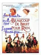 """VERITABLE AUTOGRAPHE SUR IMAGE PROMOTIONNELLE DU FILM """"BEAUCOUP DE BRUIT POUR RIEN"""" ACTRICE : EMMA THOMPSON - Autographes"""