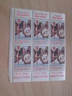 BLOC DE 6  TIMBRE OU VIGNETTE ANNEE 1936  ANTI TUBERCULOSE  DEPARTEMENT AUDE - Vignettes De Fantaisie