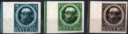 GERMANIA, GERMANY, ANTICHI STATI, BAVIERA, BAYERN, RE LUDWIG III, 1919, FRANCOBOLLI NUOVI (MLH*) Scott 228-230 - Bavaria