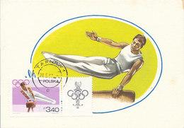 D33235 CARTE MAXIMUM CARD 1967 POLAND - GYMNASTICS POMMEL HORSE OLYMPICS CP ORIGINAL - Gymnastics