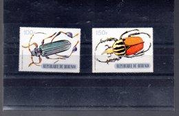 BURUNDI 362B/362C** SUR LES COLEOPTERES LES 2 GROSSES VALEURS DE LA SERIE - 1970-79: Neufs