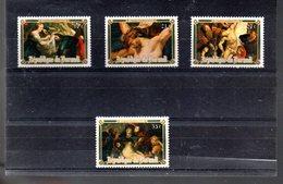 BURUNDI 699/702** SUR DES TABLEAUX DE RUBENS POUR PAQUES 1977 - 1970-79: Neufs