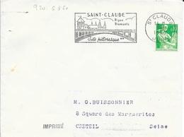 JURA 39 -  ST CLAUDE     - FLAMME N° 920  - DESCRIPTION  - 1960  - - Postmark Collection (Covers)