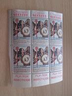 BLOC (1018) DE 6  TIMBRE OU VIGNETTE ANNEE 1936  ANTI TUBERCULOSE  DEPARTEMENT CALVADOS - Fantasy Labels