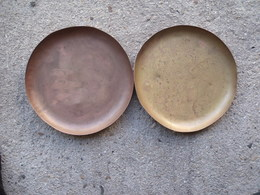 2  PLATEAUX DE BALANCE EN LAITON ET CUIVRE - Coppers