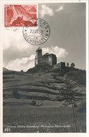 D33239 CARTE MAXIMUM CARD 1959 LIECHTENSTEIN - CASTLE BALZERS CP ORIGINAL - Castles