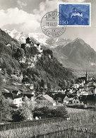 D33240 CARTE MAXIMUM CARD 1959 LIECHTENSTEIN - ROYAL CASTLE VADUZ CP ORIGINAL - Castles