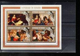 BURUNDI BLOC 120** SUR NOEL 1984 SURTAXE AVEC TABLEAUX DE LA VIERGE A L ENFANT - 1980-89: Neufs