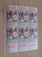 BLOC (1019) DE 6  TIMBRE OU VIGNETTE ANNEE 1936  ANTI TUBERCULOSE  DEPARTEMENT DOUBS - Vignettes De Fantaisie