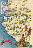 D33244 CARTE MAXIMUM CARD 1961 GABON - MAP OF GABON CP ORIGINAL - Geography