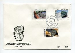 HONDURAS 1991 FDC COVER UPAEP AMERICA'91 PRE-COLUMBUS Mi#1119-21 - Honduras