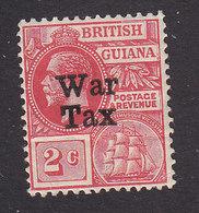British Guiana, Scott #MR1, Mint Hinged,George V Overprinted, Issued 1918 - British Guiana (...-1966)