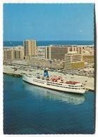 Dubai, United Arab Emirates - Waterfront, Cruise Liner - 1970's Modern-size Postcard - Dubai