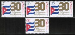 CU 1989 MI 3253-56 - Cuba
