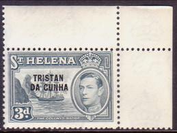 TRISTAN DA CUNHA 1952 SG #5 3d MNH St.Helena Stamp Optd Corner Margin! - Tristan Da Cunha