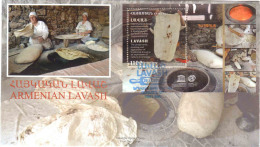 Armenien / Armenie / Armenia 2017, UNESCO, Lavash Bread SS - FDC - Armenia