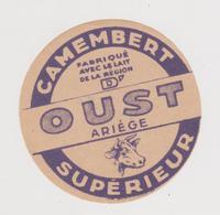Pier14 :  étiquette Fromage ST LIZIER? OUST   Ariège , Petit Camembert ( Env. 8 Par 8 Cm)imp Toulouse - Cheese