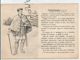 Portraits Historiques. Histoire Du Costume. Charlemagne. - Histoire