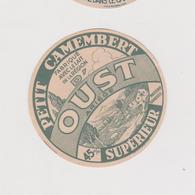 Pier14 :  étiquette Fromage ST LIZIER? OUST   Ariège , Petit Camembert ( Env. 8 Par 8 Cm)imp Lyon  Vache Ramboz - Cheese