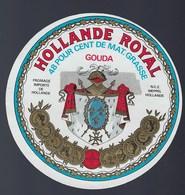 1 Etiquette Fromage -  Hollande A Voir !   Gouda Hollande Royal - Cheese