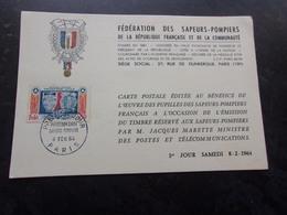 FRANCE (1964) SAPEURS POMPIERS - Maximum Cards
