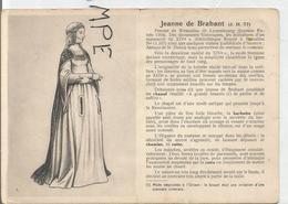 Portraits Historiques. Histoire Du Costume. Jeanne De Brabant. - Histoire