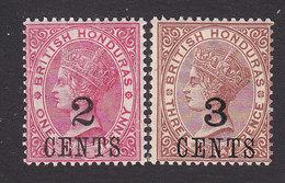 British Honduras, Scott #28-29, Mint Hinged, Victoria Surcharged, Issued 1888 - Honduras Britannique (...-1970)