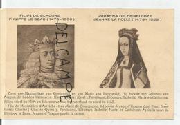 Portraits Historiques. Classic. Philippe Le Beau Et Jeanne La Folle. - Histoire