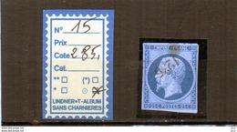 NAPOLEON III - N°15 - OBLITERE - - 1853-1860 Napoleon III