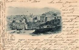 CORSE - Vue De BASTIA En 1900 - Petite Animation Au 1er Plan Et Les Iles D'Elbe Et Monte Cristo Au Fond - Bastia