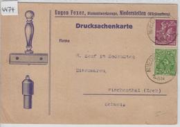 1923 Eugen Fexer Diamantwerkzeuge Niederstetten Werbung Reklame Illustriert 232  241 - Storia Postale
