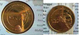 Malaysia 2010 1 Ringgit  KTM 125 Years Train Locomotive Railway Nordic Gold BU Coin Card - Malaysia