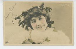 FEMMES - FRAU - LADY - Jolie Carte Fantaisie Portrait Femme - LES SAISONS - L'HIVER - Donne