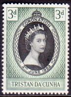 TRISTAN DA CUNHA 1953 SG #13 3d MH Coronation - Tristan Da Cunha