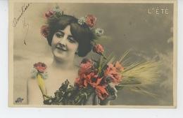 FEMMES - FRAU - LADY - Jolie Carte Fantaisie Portrait Femme - LES SAISONS - L'ÉTÉ - Donne