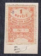 Austria Hungary Bosnia 1879 Revenue Stamp Of 1 Coin On Cutting - 1850-1918 Empire