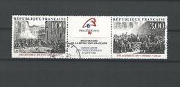 1988  N°2538A BICENTENAIRE RÉVOLUTION LE TRIPTYQUE OBLITÉRÉ - France