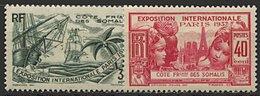 Somalie, N° 141 à N° 146** Y Et T - Côte Française Des Somalis (1894-1967)