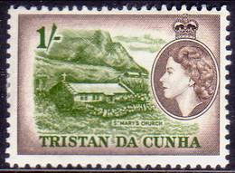 TRISTAN DA CUNHA 1954 SG #24 1sh MH - Tristan Da Cunha