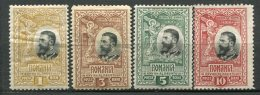 Yv. N°  182 à 184 *, 185 (*)  1b à 10b  Anniversaire Cote  3,75  Euro  BE   2 Scans - 1881-1918: Carol I