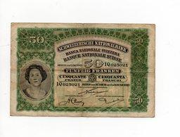 SWITZERLAND , SUISSE : 50 FRANKEN  , 1 JANUARY 1910...MEGA RARE!!! - Suiza