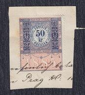 Austria Hungary Bosnia 1885 Revenue Stamp Of 50 Kr On Cutting - 1850-1918 Empire