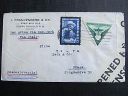 BRIEF Ciudad Trujillo - Praga Wehrmaht Zensur 1940  /// D*31314 - Dominikanische Rep.