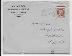CHANTIERS De JEUNESSE - 1943 - ENVELOPPE Du GROUPEMENT N°42 à CHATELGUYON (PUY DE DOME) - OBLITERATION CIRCUIT POSTAL - Marcophilie (Lettres)
