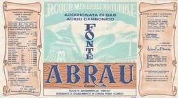 Etichetta Originale ACQUA MINERALE NATURALE FONTE ABRAU Chiusa Pesio - Cuneo - Labels